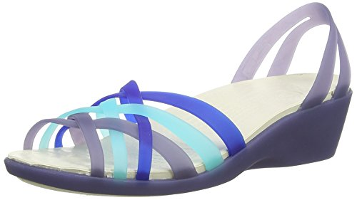 [クロックス] crocs Huarache Mini Wedge W 14384 4CX (Nautical Navy/Aqua/W8)