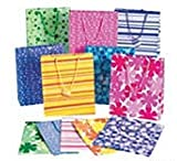 12 Medium Gift Bags - Assorted (Choose Your Style) (12 pc BRIGHT PRINT mix- assorted medium 9 inch)