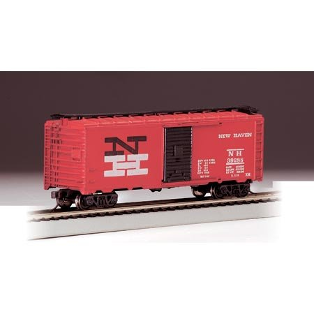Bachmann Trains New Haven-Red 40' Box Car-Ho Scale