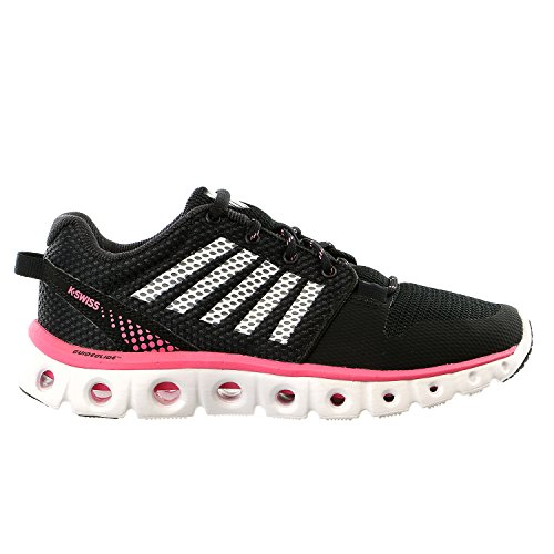 K-Swiss Women's Xlite Athletic Shoe Black/Pink Lemonade/White Medium / 7 B(M) US
