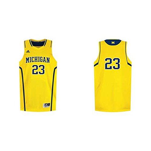Michigan Wolverines Kids Replica Basketball Jersey - Gold #23