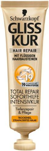 Schwarzkopf Gliss Kur Kur Soforthilfe Intensivkur Total Repair, 2er Pack (2 x 20 ml)