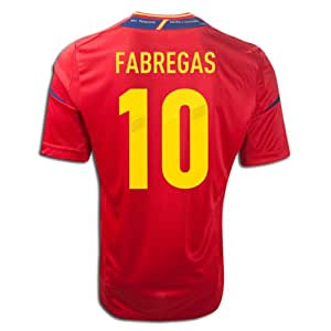 adidas #10 FABREGAS Spain Home 2011-13 Soccer Jersey (US Size: L)