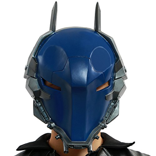 XCOSER Men's Arkham Knight Helmet PVC Dark Blue Full Head Mask for Hot Game Cosplay
