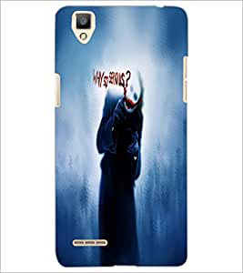 PrintDhaba Joker D-4845 Back Case Cover for OPPO F1 (Multi-Coloured)