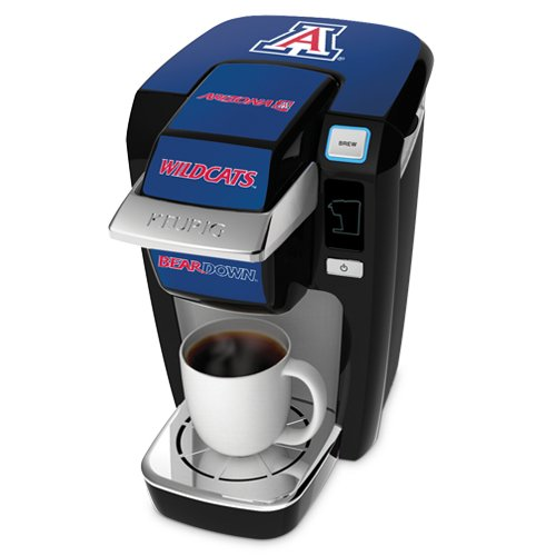 Keurig K10 Black Mini Plus Single Cup Personal Brewer With University Of Arizona Decal Kit