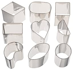 Ateco 9 Piece Petit Four Stainless Steel Cutter Set