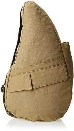 AmeriBag Classic Distressed Nylon Healthy Back Bag tote Medium,Taupe,one size
