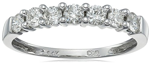 14k White Gold 7-Stone Shared-Prong Diamond Ring (1/2 cttw, I-J Color, I1-I2 Clarity)