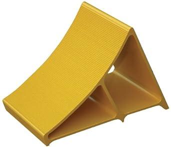 "Vestil EALUM-YEL Extruded Wheel Chock, Aluminum, 7"" Width, 8"" Height, 11-5/8"" Length, Yellow"