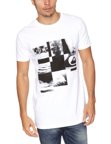Quiksilver Basic Tee KPMJE90941 Logo Men's T-Shirt White X-Large