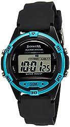 Sonata Digital Grey Dial Mens Watch - 77046PP01