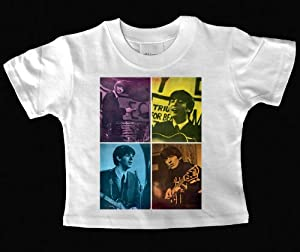The Beatles Fab Four Vintage Poster Baby T Shirt 6 Months