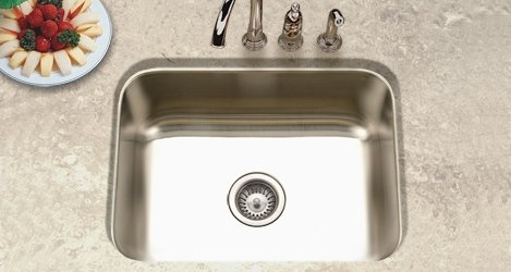 Houzer ES-2408-1 Elite 23-3/16-by-17-15/16-Inch Single Bowl Undermount Stainless Steel Sink