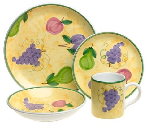Caleca Frutta 16-Piece Dinnerware Set, Service for 4