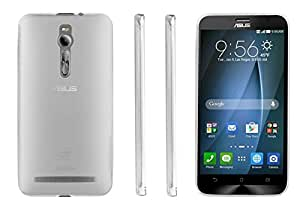 Skoot Clear Transparent TPU Silicone Cover Phone Case For Asus Zenfone 2 + Free V8 Pin OTG Adaptor with this case. Offer till stocks last