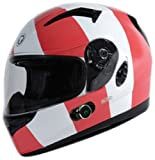 TORC T12B Blade Full Faced Helmet with Blinc 2.0 Stereo Bluetooth and Homeland Graphic (White X-Large)