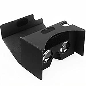 Daisen-tech Google Black Cardboard VR V2.0 Virtual Reality DIY 3D Glasses for Smartphone with Headband - Easy Setup