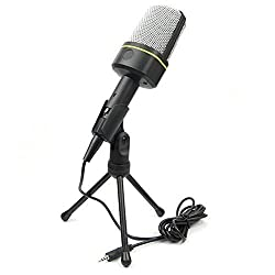 MXtechnic MSN Skype Singing Recording 3.5mm AUX Jack Microphone Mic For Laptop PC Computer