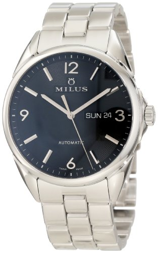 Milus Men's TIRC002 Stainless Steel with Black Dial Watch