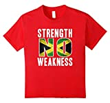 Kids Strength No Weakness Jamaica Flag Pride  10 Red