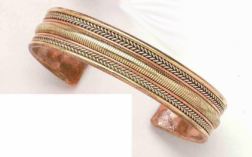 Three Metals Patterns – Copper Bracelet – From India