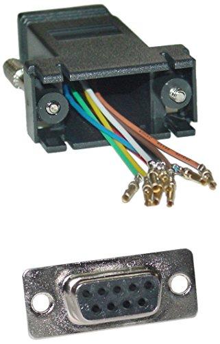 Offex Of-31D1-1740Bk Modular Adapter, Db9 Female To Rj45 Jack, Black