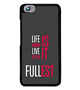 Life Quote 2D Hard Polycarbonate Designer Back Case Cover for Micromax Canvas Fire 4 A107