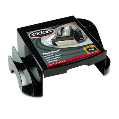 Rubbermaid Office Solutions Rolodex Optimizer Phone Center, Black (94616)