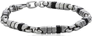 Fossil Herren-Armband Edelstahl 21 matt / poliert / IP schwarz JF00534040