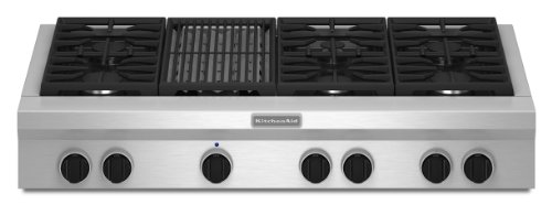 Kitchenaid KGCU482VSS Commercial-Style Gas Cooktop