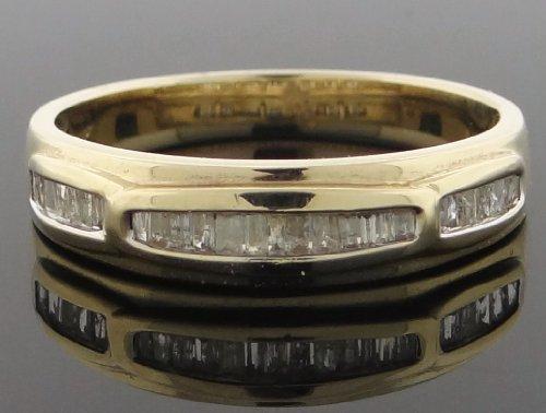 Designer Women's Wedding Band Ring 14k Yellow Gold 0.40ct Diamonds YG-WB-R196-JGK