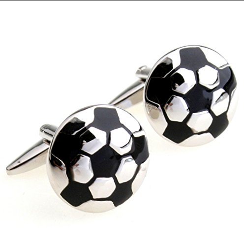 Football Soccer Ball Cufflinks for Football Players Soccer Fans French Shirt Cuff Buttons with Gift Bag