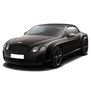 Adraxx 1:24 Scale Black Metal Die Cast RC Convertible Bentley Car Toy