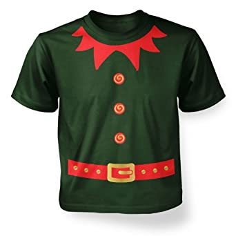 Big Mouth Clothing Big Boys Elf Costume (Red Detail) Kids T-shirt