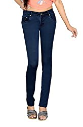 Dragaon Women's Stretchable Skinny Fit Jeans-Blue-D-4840-Size-28