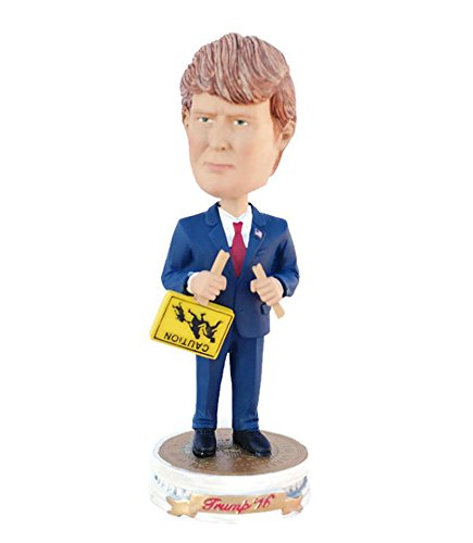 Donald Trump Bobblehead with Immigration Sign