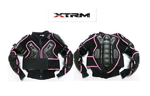 Giacca Bambini Motocicletta Protector - Nuova MOTOCROSS QUAD CE KIDS Body Armour Giacca, Bambini (Ragazze) Completo Deflactor (Rosa) (S (6 anni))
