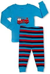 "Leveret Little Boys ""Fire Truck"" 2 Piece Pajama Set 100% Cotton (2-8 Years)"