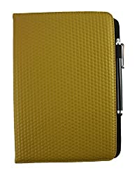 Emartbuy® i-INN ACTIVE 10.1 Inch Tablet PC Universal ( 9 - 10 Inch ) Mustard Padded 360 Degree Rotating Stand Folio Wallet Case Cover + Stylus