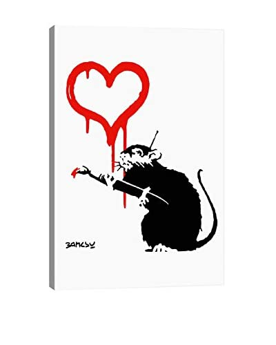 Banksy Love Rat Giclée On Canvas