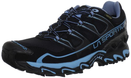 La Sportiva Women's Raptor GTX Running Shoe,Black/Ocean,42.5 EU/10.5 M US