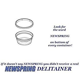 Delitainer 8 oz. Deli Food Containers w/ Lids - Pack of 40 By: Newspring
