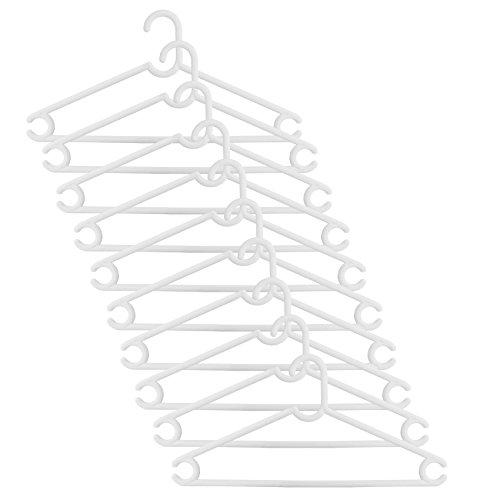 H & L Russel Tube en plastique Vêtements Cintres, blanc, 41cm, lot de 10