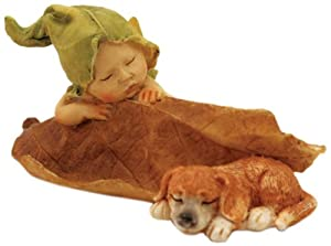Top collection enchanted story fairy garden sleeping fairy baby with puppy outdoor - Enchanted garden collection free download ...