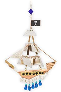 Pilgrim Imports Pirate Ship Fair Trade Ornament
