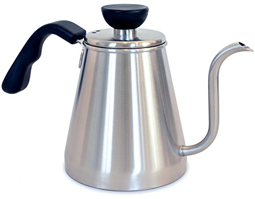 Pour Over Coffee and Tea Drip Kettle 1L - Ovalware RJ3 Stainless Steel Precision Gooseneck Spout for Home Brewing, Camping and Traveling (Cone Tea Kettle compare prices)