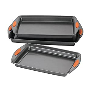 Rachael Ray, Nonstick Bakeware 3-piece Pan Set, New