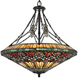 Quoizel TFRG2840VA Rose Garden 41-Inch Pendant with Eight Uplights, Valiant Bronze Finish