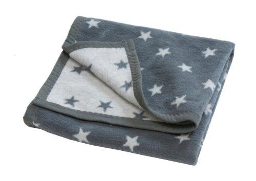 Hippychick 75 x 100cm Baby Blanket (Grey Stars)
